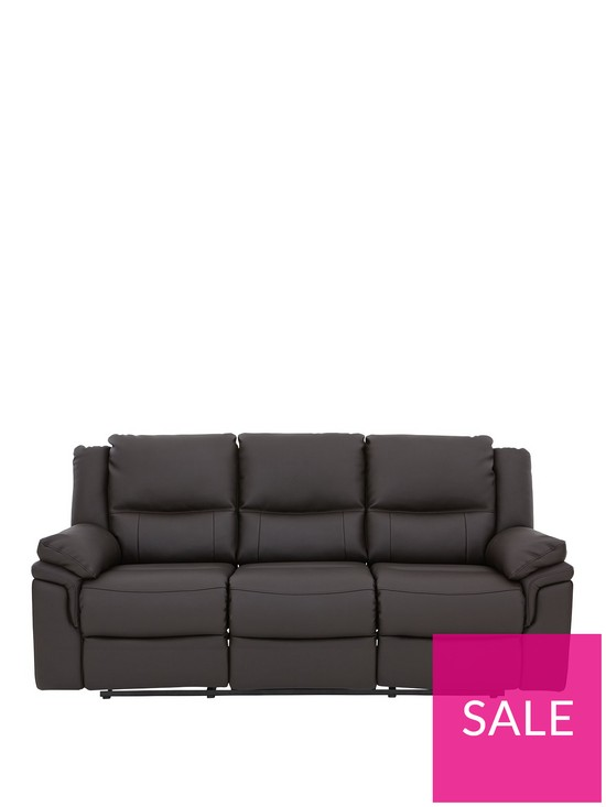 dc5f1715d3 Albion Luxury Faux Leather 3 Seater Manual Recliner Sofa | very.co.uk