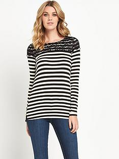 v-by-very-stripe-lace-yoke-jersey-top