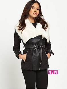 river-island-faux-fur-collar-belted-coat