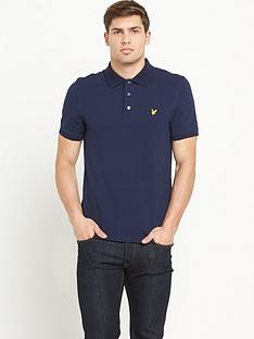 lyle-scott-pique-polo-top-navy