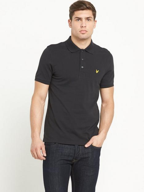 lyle-scott-pique-polo-shirt-black