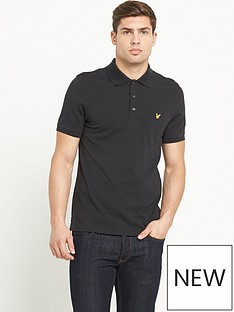 lyle-scott-pique-polo-shirt-black