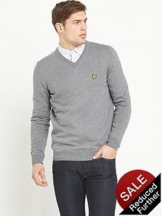 lyle-scott-merino-woolnbspv-neck-jumper