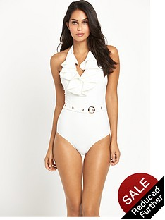 forever-unique-belted-ruffle-swimsuit