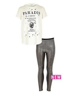 river-island-girls-paris-printed-tee-with-metallic-leggings-set-2-piece
