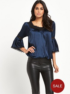 lipsy-mid-sleeve-swing-blouse