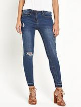 Fray Hem Ankle Grazer Skinny Jean