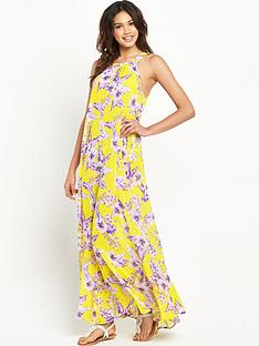 resort-high-neck-sheer-beach-maxi-dress