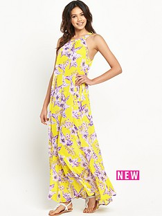 resort-high-neck-sheer-maxi-dress