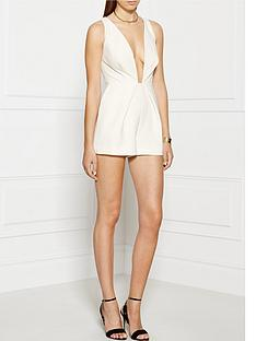 finders-keepers-the-creator-plunging-neckline-playsuit-white