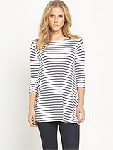 STRIPE 3/4 SLEEVE SWING TUNIC