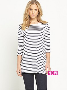 v-by-very-stripe-34-sleeve-swing-tunic