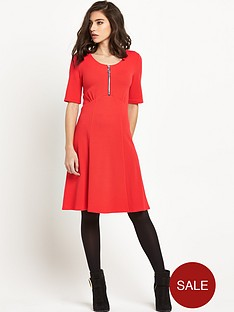 v-by-very-textured-zip-front-jersey-dress