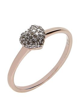 love-diamond-rose-gold-plated-sterling-10-point-diamond-heart-cluster-ring