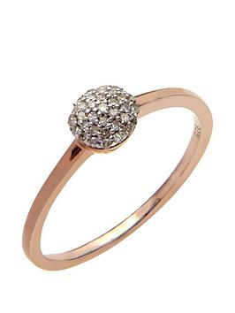 love-diamond-rose-gold-plated-sterling-10-point-diamond-round-cluster-ring