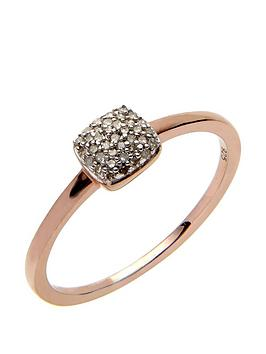 love-diamond-rose-gold-plated-sterling-10-point-diamond-square-cluster-ring
