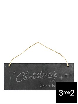 personalised-christmas-at-rustic-slate-sign