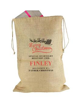 personalised-merry-christmas-hessian-sack