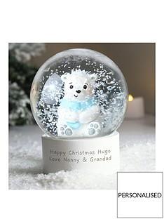 personalised-polar-bear-snow-globe