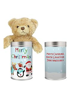 personalised-santa-and-friends-teddy-in-tin