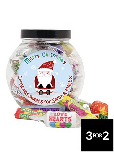 personalised-santa-sweet-jar