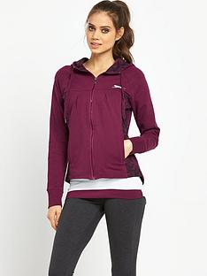 slazenger-juliet-zip-through-hooded-top