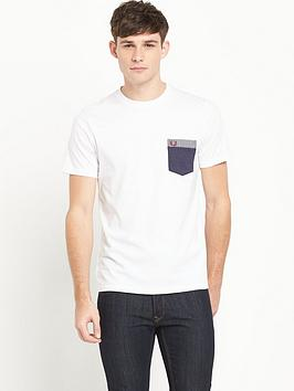 fred-perry-gingham-pocket-mens-t-shirt