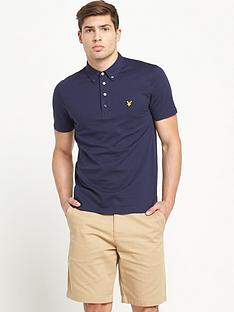lyle-scott-jersey-button-down-collar-polo-top