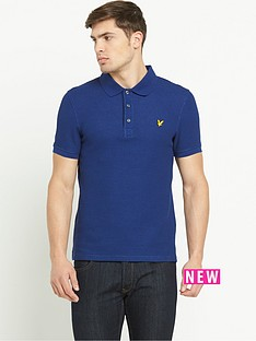 lyle-scott-grid-texture-mens-polo-shirt