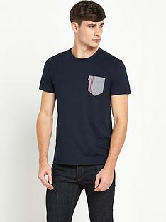 ben-sherman-ben-sherman-gingham-tipped-pocket-tshirt