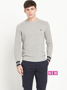 fred-perry-textured-crew-mens-jumper