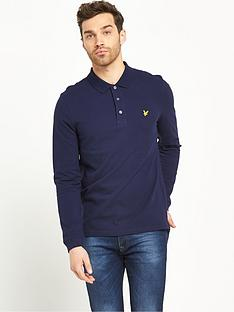 lyle-scott-long-sleeved-pique-polo