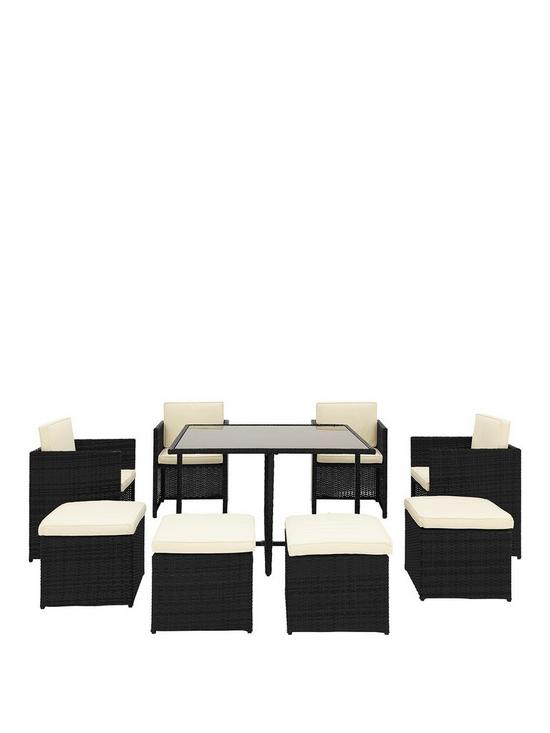 Vancouver 9 Piece Cube Garden Furniture Set Very Co Uk
