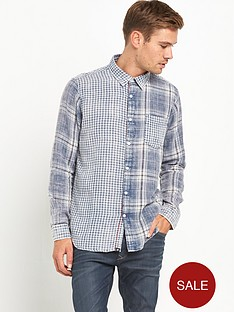 joe-browns-two-way-indigonbspcheck-shirt