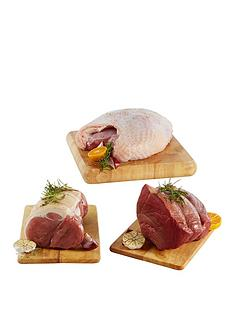 fresh-whole-turkey-crown-5kg-beef-silverside-joint-2kg-amp-gammon-joint-2kg