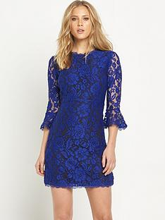 v-by-very-lace-fluted-sleeve-skater-dress