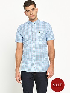 lyle-scott-short-sleeve-micro-check-shirt