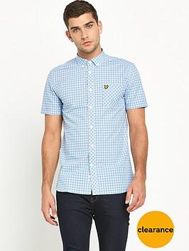 lyle-scott-short-sleeve-micro-check-shirt