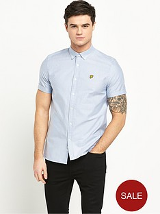 lyle-scott-short-sleeve-oxford-shirt