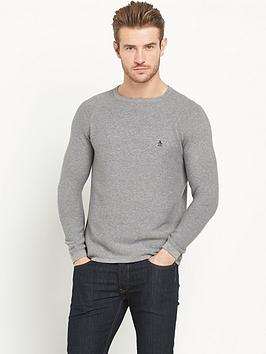 penguin-mason-link-stitch-crew-knit