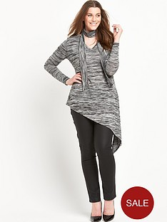 so-fabulous-space-dye-asymmetric-hem-skinny-scarf-tunic