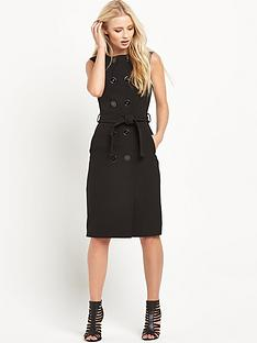 warehouse-button-front-dress