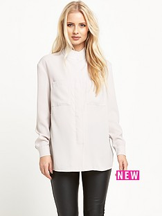 warehouse-dobby-zip-front-shirt