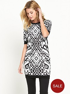 v-by-very-tribal-jacquard-dress