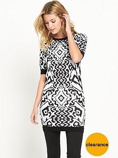 v-by-very-tribal-jacquard-dress
