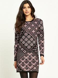 v-by-very-nordic-jacquard-dress