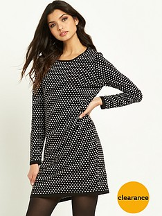 v-by-very-spot-jacquard-dress