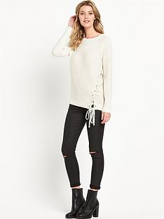 v-by-very-lace-tie-front-jumper