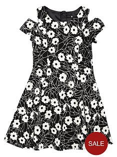 v-by-very-girls-textured-cut-out-shoulder-skater-dress