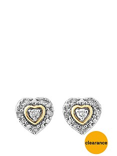diamond-chic-sterling-silver-with-gold-highlights-11-point-diamond-heart-stud-earrings